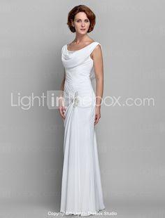 Sheath/Column Scoop Chiffon Mother of the Bride Dress (612479) - USD $ 99.99