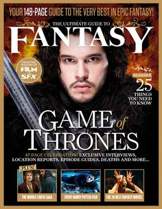 THE ULTIMATE GUIDE OF FANTASY. Your 148-page guide to the very best in epic fantasy! #GameofThrones, #HarryPotter, The #middleearth saga and more-