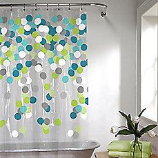 image of Cheer Shower Curtain in Blue/Green