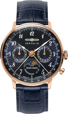 Zeppelin Watch Hindenburg #bezel-fixed #bracelet-strap-leather #brand-zeppelin #case-depth-10mm #case-material-rose-gold-pvd #case-width-36mm #classic #date-yes #day-yes #delivery-timescale-call-us #dial-colour-blue #gender-mens #moon-phase-yes #movement-quartz-battery #official-stockist-for-zeppelin-watches #packaging-zeppelin-watch-packaging #style-dress #subcat-hindenburg #supplier-model-no-7039-3 #warranty-zeppelin-official-2-year-guarantee #water-resistant-30m