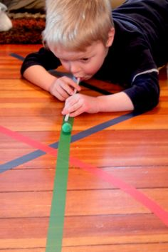 What to Do with Just Some Lines of Tape - 2 very simple tape activities can do quickly