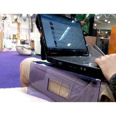 Plexiglass & Design: Tavolino porta pc da letto in plexiglass Prezzo 50€ - #plexiglass #design #designtrasparente #apple #mac #imac #macbook #pc #viola #idea #regalo