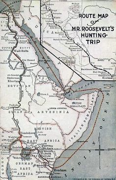 Map Route Map of Mr. Roosevelt's African Hunting Trip1909