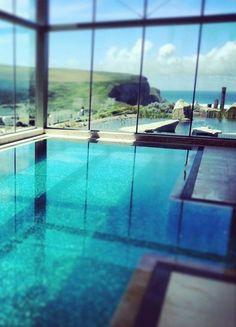 Enjoy cliff-top hot tubs at The Scarlet 4* hotel in Cornwall. It doesn't get much better than that!