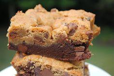 Brownie chocolate chip cookie bars