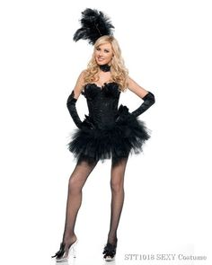 Deluxe Sexy Black Swan Womens Costume,$142.96