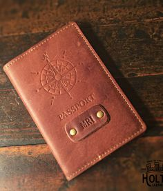 No. 15 Expedition Personalized Leather Passport Cover - Handmade in America by Holtz Leather Co.