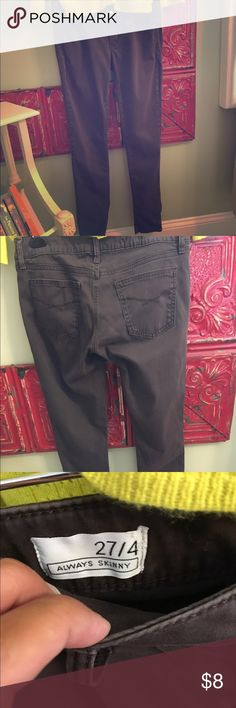 Brown, Gap Always Skinny Jeans Soft and stretchy skinny jeans. Dark brown. GAP Jeans Skinny