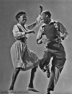 Leon James and Willa Mae Ricker demonstrate the Lindy Hop, 1942.    Seriously, how cute are they?!