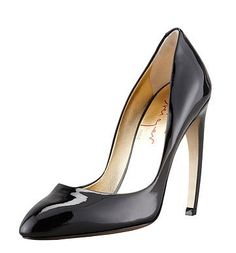 Extreme Heels: Walter Steiger Bowed Heel Patent Leather Pump ($750)