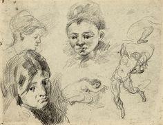 Sheet of Studies by Paul Cézanne