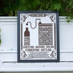 Someone please buy this for me!    Home Brew BEER Poster - men's gift, man cave - hand-pulled screen print on 22x28 watercolor paper, $44.00