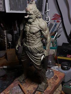 Monster Sketch, Kimono Japan, Green Lantern Corps, Drawing Templates, 3d Models, Asian Art, Sculpting, Monsters, Character Design