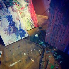 In Studio | David Charles Fox  davidcharlesfoxexpressionism.com #davidcharlesfox #expressionistartist #expressionism #expressionistpainter #contemporaryartists