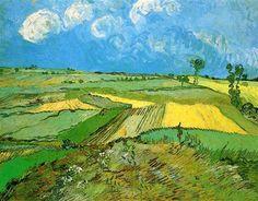 Campos de trigo en Auvers debajo del cielo nublado - Vincent van Gogh