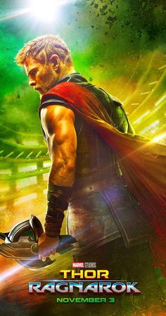 Directed by Taika Waititi.  With Tom Hiddleston, Benedict Cumberbatch, Idris Elba, Cate Blanchett. Thor must face the Hulk in a gladiator match and save his people from the ruthless Hela.
