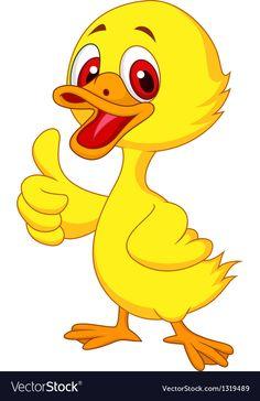 Illustration of Cute baby duck cartoon thumb up vector art, clipart and stock vectors. Cartoon Cartoon, Cartoon Birds, Cartoon Photo, Cartoon Drawings, Animal Drawings, Cartoon Download, Cute Couple Cartoon, Baby Chickens, Chicken Art