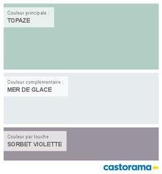 Castorama Nuancier Peinture - Mon harmonie Peinture MER DE GLACE satin de COLOURS Respirea ...