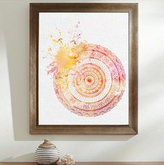 Splatter Painting Mandala watercolour Zentangle por WestridgeART