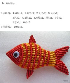 Macrame fish tutorial - DIY中国结 鲤鱼 [图片] - 陈金仙 - chen747501189 的博客