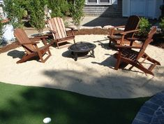 Most Popular Outdoor Beach Patio Design to Relax - Master Home Decor Sand Backyard, Sand Patio, Backyard Beach, Gravel Patio, Backyard Paradise, Fire Pit Backyard, Backyard Landscaping, Backyard Retreat, Landscaping Ideas