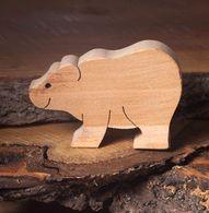 Bear, wooden animal figures