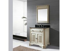 The Kingswood 36 in. vanity in distressed white is a beautiful furniture piece. Special distressed effect is applied to the vanity body to give it an old world look. Constructed of solid poplar wood frame, black bronze hardware, and soft-close doors. Bath Furniture, Bathroom Vanity, Traditional Bathroom, Vanity, Distressed White, Beautiful Furniture Pieces, Country Style Furniture, Beautiful Furniture, Bathroom