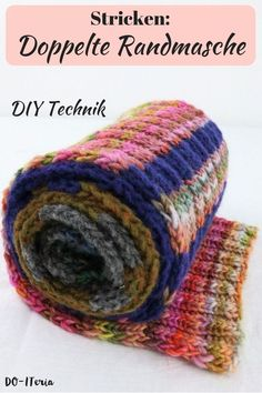 Doppelte Randmasche stricken am Beispiel des Schals fürs Leben 2018 Double M, Diy Mode, Cast Off, Ideias Diy, Edge Stitch, Knitting For Beginners, Knitting Needles, Knitting Wool, Easy Knitting