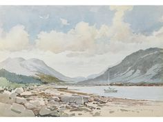Art For Sale Online, Uk Online, Scottish Islands, Mountain Landscape, Affordable Art, Uk Shop, Watercolours, Watercolour Painting, Online Art Gallery