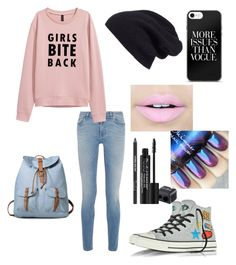 """Girls bite back"" by alicyafullbuster ❤ liked on Polyvore featuring Givenchy, Converse, Halogen, Fiebiger and Rodial"