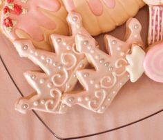 Fairy Princess TIARA cookies #QueenofTartsCakes #Cookies #Crown