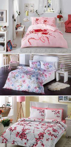 Parisian Bedding Elegant Floral Scrapbook Chintz Set Duvet Covers Pillowcase