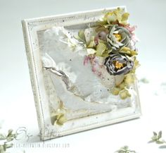 An altered frame by Olga, featuring the Flower Frames collection