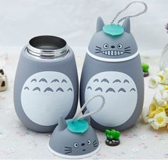 Anime My neighbor Totoro Insulated Cup Cute Totoro Stereoscopic Stainless Steel Mug Students Thermos bottle Kids Gift Totoro Merchandise, Stainless Steel Thermos, Insulated Cups, Cute Cups, My Neighbor Totoro, Hayao Miyazaki, Gifts For Kids, Mugs, Free Shipping