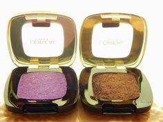 Eyeshadows von L'Oreal, L'Ombre Pure, Color Riche bei mir im Test