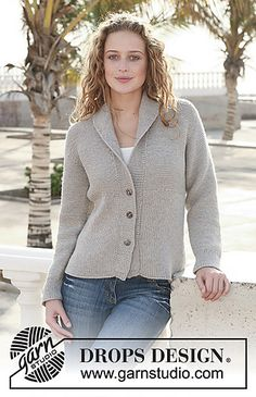 free ravelry 112 40 knitted jacket with rib in merino extra fine pattern by drops design - PIPicStats Knit Cardigan Pattern, Sweater Knitting Patterns, Jacket Pattern, Knit Patterns, Free Knitting, Laine Drops, Handgestrickte Pullover, Drops Patterns, Drops Design