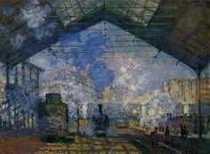 Claude Monet - Gare Saint-Lazarre (1877)