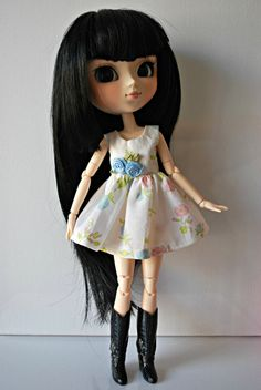 Romantic Dress for Pullip or Blythe by Alurita on Etsy