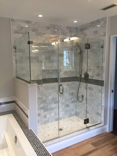 Complete Redesign With Tiled Shower And New Bath Tub In Bathroom - Bathroom contractors ct