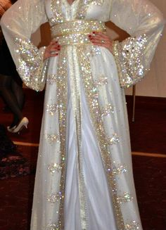 White/Bling Kaftan #Hijab