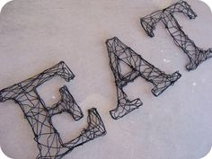 Wire letters...cheap and cool wall art!