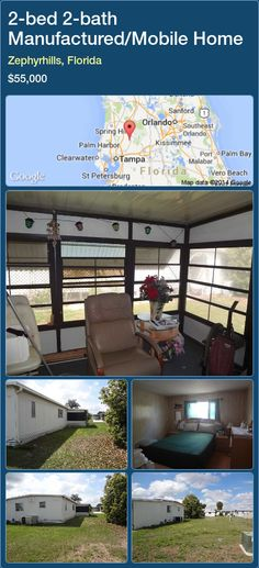2 Bed Bath Manufactured Mobile Home In Zephyrhills Florida 47500 PropertyForSaleFlorida Magic Properties 7824 Manufacture