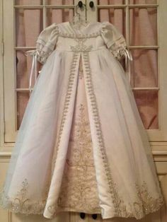 Christening gown made from wedding dress
