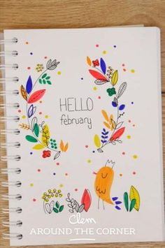 Drawing nature journal pages 16 ideas february bullet journal, bullet journal themes, Bullet Journal Simple, February Bullet Journal, Bullet Journal Themes, Bullet Journal Inspiration, Bullet Journals, Bird Doodle, Floral Doodle, Bullet Journal Calligraphy, Fleur Design