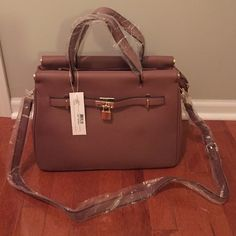 Brand new with tags handbag Brown pebbled, with adjustable/removable cross body strap Bags Satchels