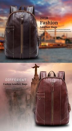 High Quality 2018 New Fashion Soft Genuine Leather Backpack Famous Brand Men  Backpacks Casual School Bag 201902d23fe68