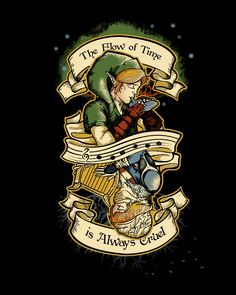 The Flow of Time T-Shirt $11 Legend of Zelda tee at Unamee!