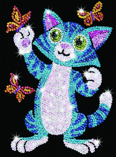 Sequin Art Junior Kitten Craft Kit | Hobbies