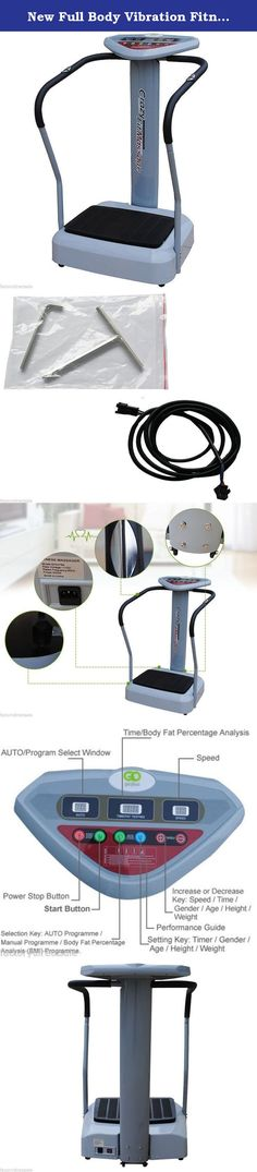 New Full Body Vibration Fitness Plate Machine Crazy Fit Massage 002E. Brand New Product, Best Quality And Competitive Price 3 Different Preset Programmes Variants Of Speed Range And Strong Massage Vibration Ergonomic Construction With Fashionable Streamline Design Easy-To-Operate Console With Window Display Screens Durable Steel Frame Printed With Fashionable Color Current Overload Protection Disturbance And Static Electricity Resistance Can Be Used To Measure The Body Fat Content...