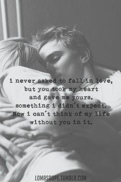 Jag har sagt det tidigare men är fortfarande lika förundrad över hur du tog hela mitt hjärta bara så där utan förvarning. I gengäld fick jag ditt, det största och finaste du kunde ge mig